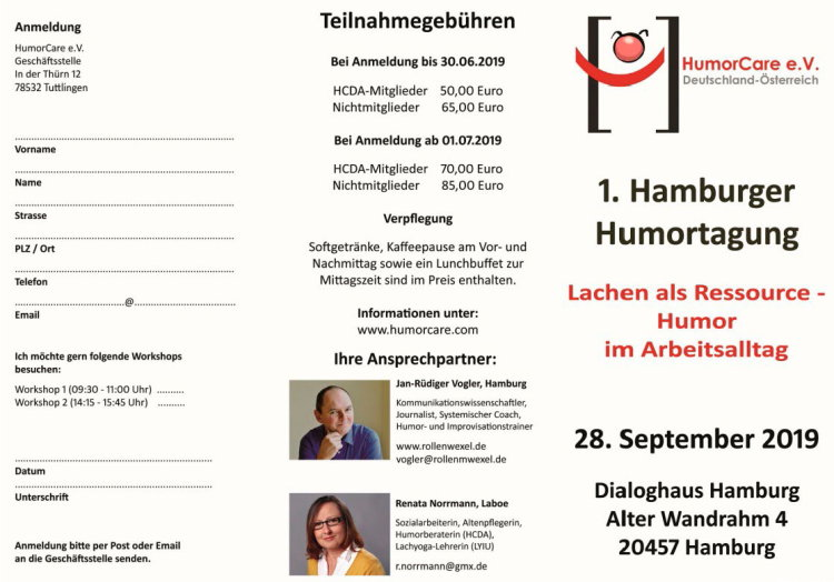 1. Hamburger Humortagung - 28. September 2019